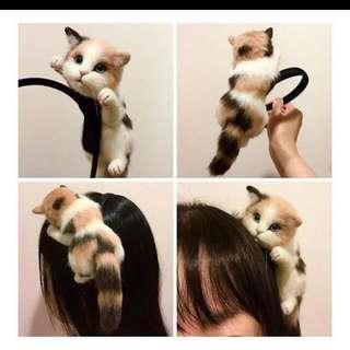 Hang On Kitty Hairband ~ Good For Cosplay