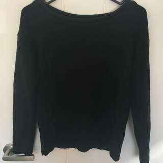 Black Knit Jumper