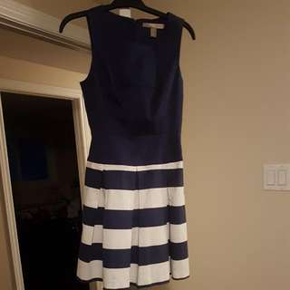 **REDUCED PRICE** F21 Navy Blue And White Dress