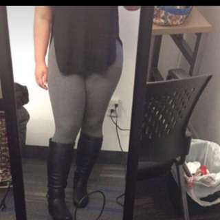 Under The Knee High Black Boots