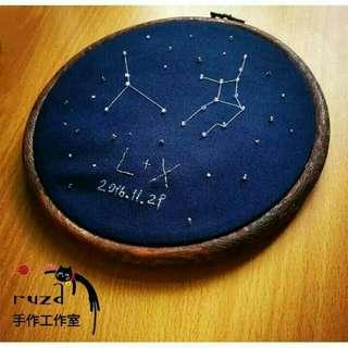 DIY刺繡/材料包/12星座