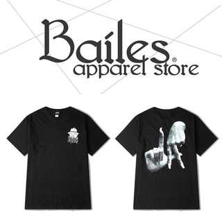 貝里斯Bailes【AS001】歐美版 / 男女款 歐美街頭風格背後圖案個性印花搭配棉質圓領短袖T恤
