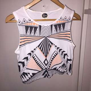 Alice In The Eve Neon Patterned Crop