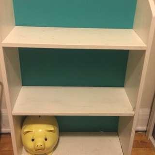 White And Teal Bookshelf