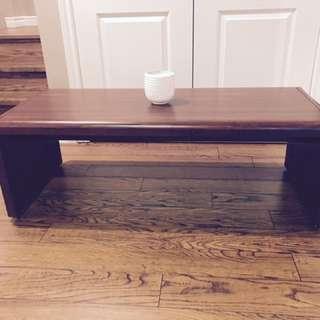 Mahogany Brown Coffee Table