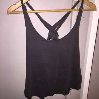 Insight Grey Distressed Singlet Top
