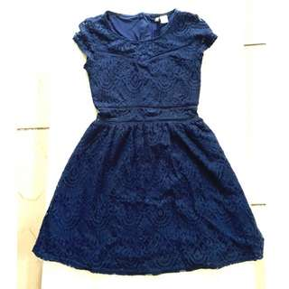 H&M Navy blue lace dress