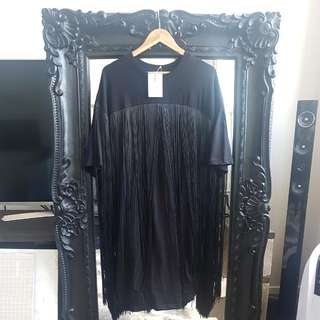 Black Asos Over Sized T Shirt Dress. Size Uk 12