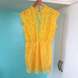 Yellow Lace MiniDress