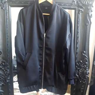Monki Black Long Bomber Size  M