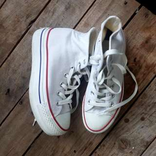 Converse White With Small Platform Size Uk4