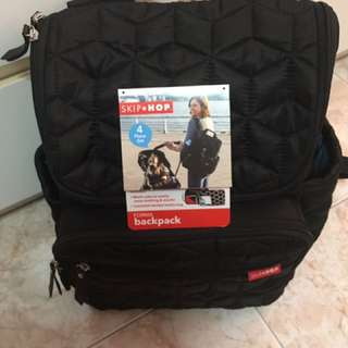 SKIP*HOP FORMA DIAPER BACKPACK - Black