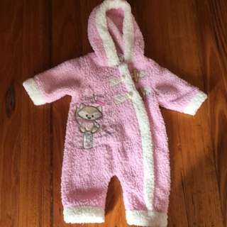 Fluffy Pink Jumpsuit Size 000