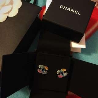 Chanel2017彩虹耳環
