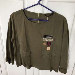 Zara Top With Pin Details