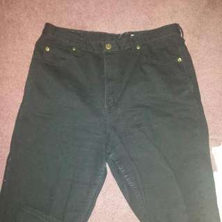 Black Denim Baggy High Waisted jeans