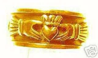 Gold Plated Celtic knot Claddagh Infinity Ring Silver Size 12