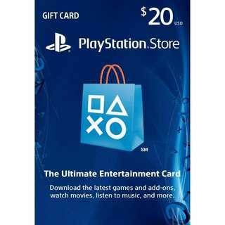 WTS USD20 PSN Gift Card