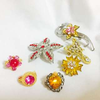 Brooches (Red set)