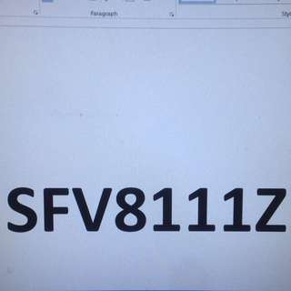 Car Plate SFV8111Z