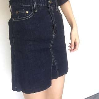 Dark Blue Denim Skirt