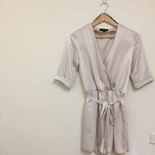 Champagne Silk Blend Playsuit
