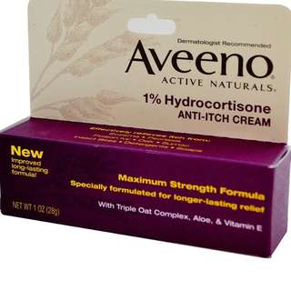 ✨PO✨ Aveeno, Active Naturals 1% Hydrocortisone Anti-Itch Cream( 28 g)