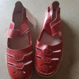 Brand New Flat Red Shoes