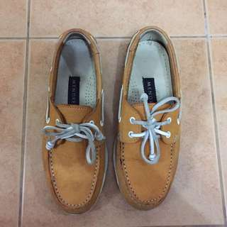 Mendrez Mustard Boat Shoes
