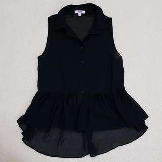 Size 8 Black Sleeveless Top