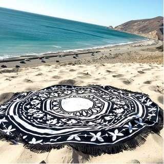Round Beach Towel (b&w design series)
