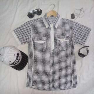 Black and white polo