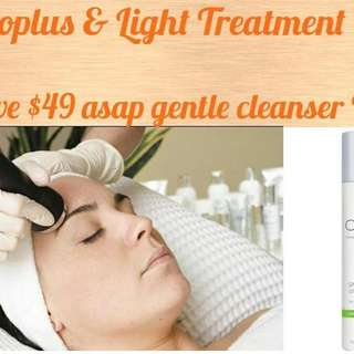 Micro / LED Light TREATMENT With Free Cleanser $129