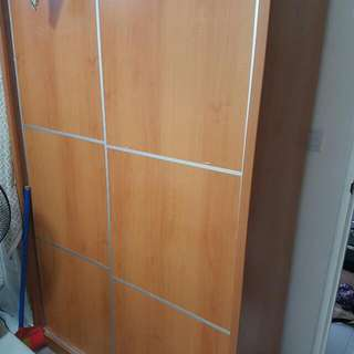 2 door Wooden Sliding Wardrobe