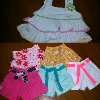 5 Baby Shorts  & A Blouse