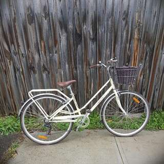 Nitro Appletree Ladies Vintage Bike In Cream + Accessories