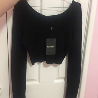 Cropped Black Jumper