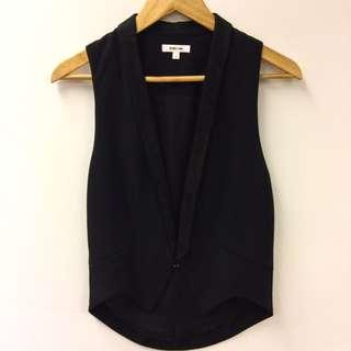 Helmut Lang black vest cardigan size 0