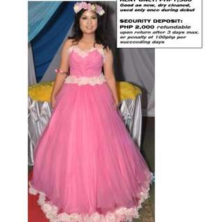 GOWNS FOR RENT OR SALE