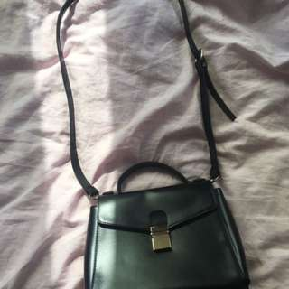 Black pleather purse
