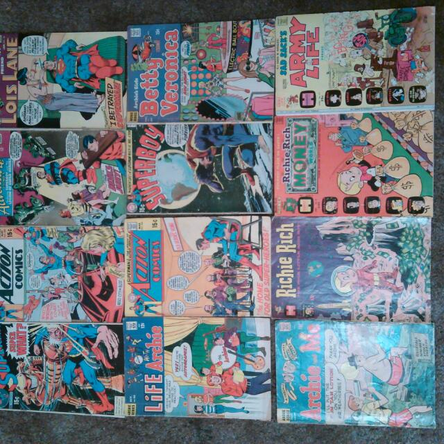 1960's-70's Assorted Comic Book Lot Of 12