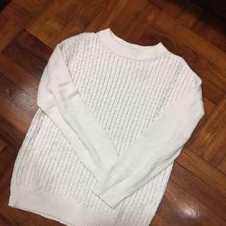 95%new 白色冷衫上衣