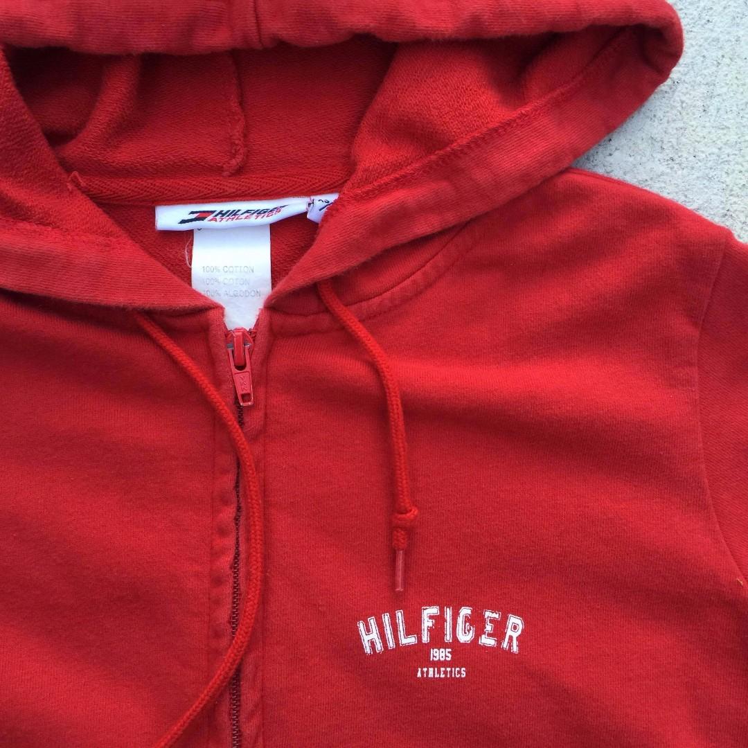 2000S HILFIGER ATHLETICS CROPPED HOODIE