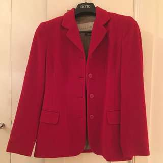 Reduced Price Jigsaw Red Wool Jacket/Blazer