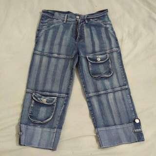 Stripes 3/4 Jeans