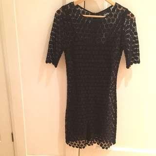 Pilgrim Black Lace Dress Size 6