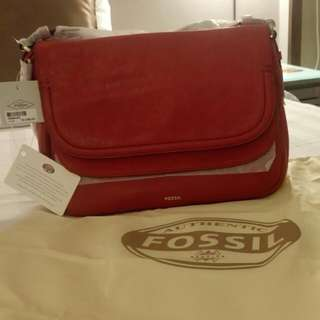 UP NEW FOSSIL Bag - PEYTON Large Double Flap