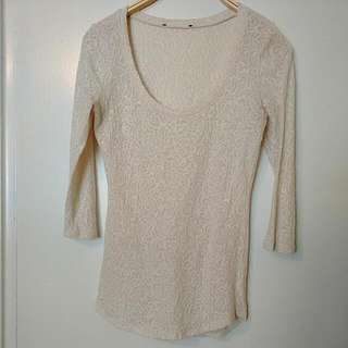 Ivory Lace Top S