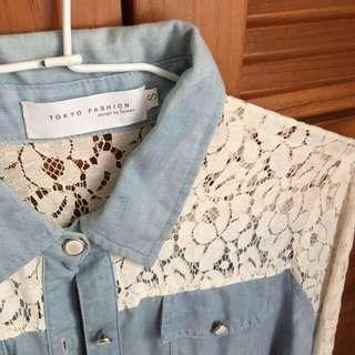 淺藍牛仔薄襯衫