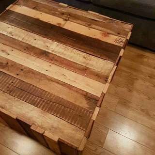 Square Pallet Wood Coffee Table